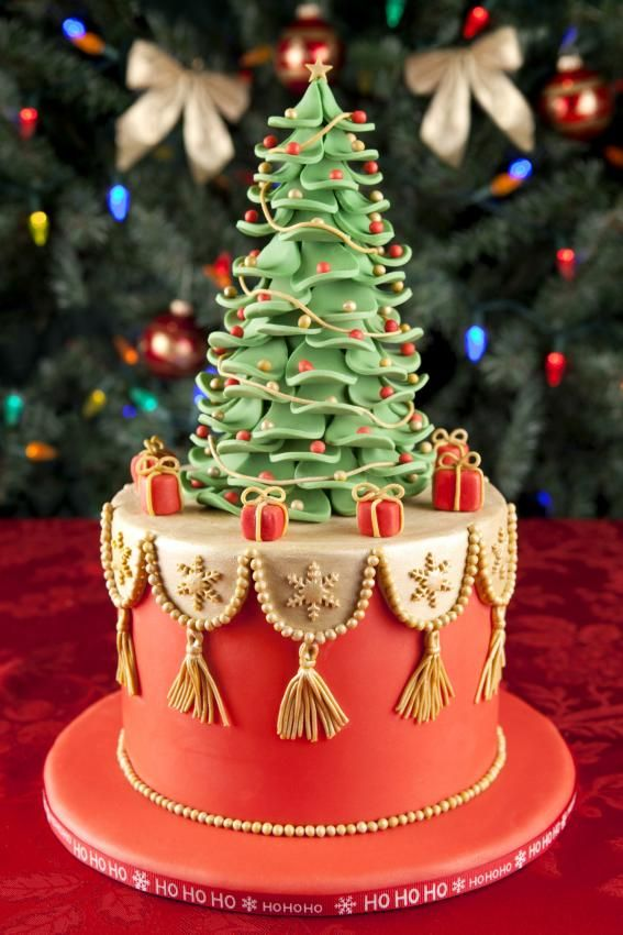 Christmas Cake Designs French Cake And Christmas Tree