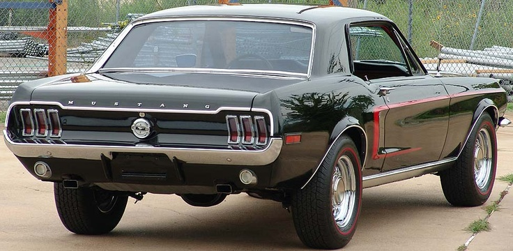 68 mustang. Had it, want it again!! Mine was maroon with a