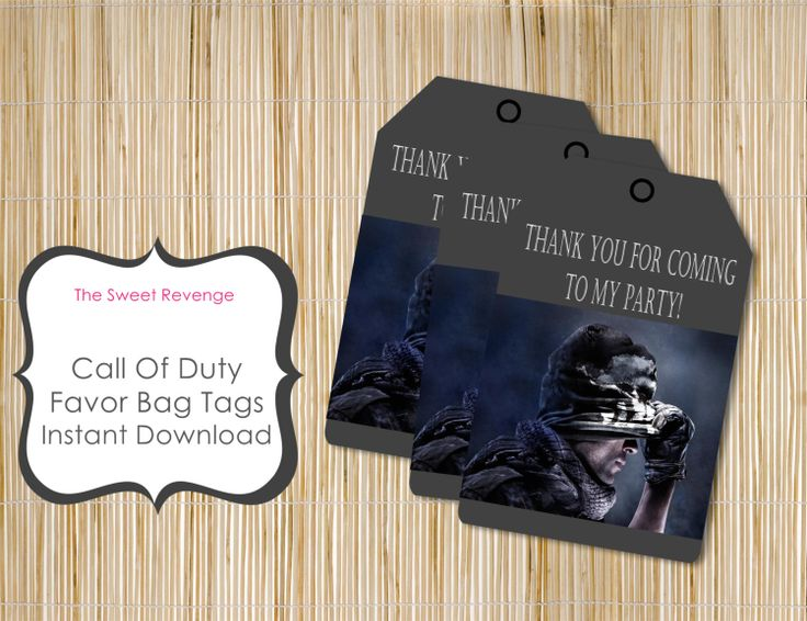 call of duty party bags