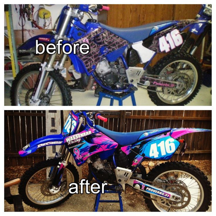 What a facelift can do to your bike. Check out decal works