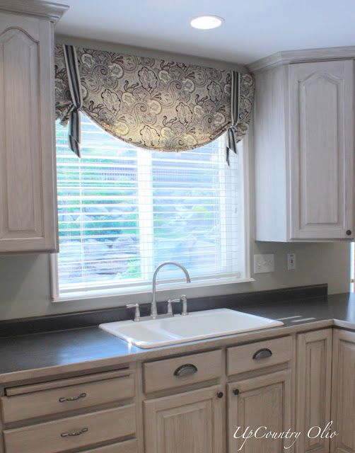 kitchen window treatments | and a half of fabric was all it took for the simple window treatments …