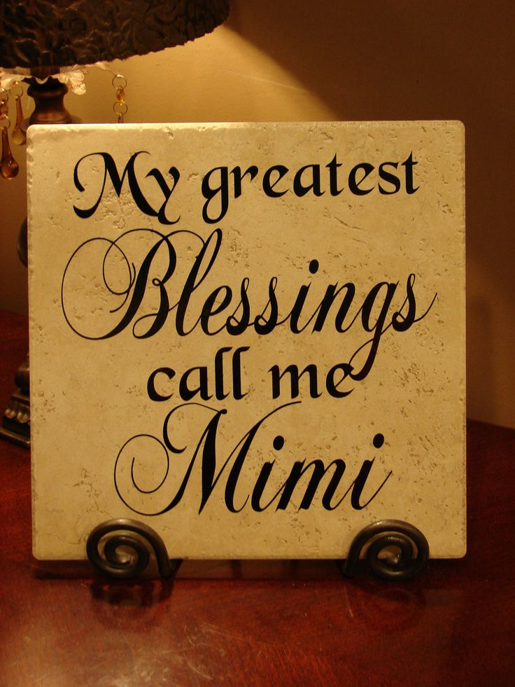 My Greatest Blessings Call Me Mimi Vinyl Art Decorative