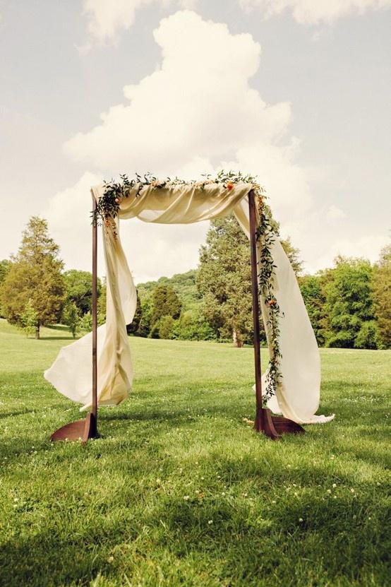 Wooden Arch W Fabric Wedding Weddings Pinsland Https