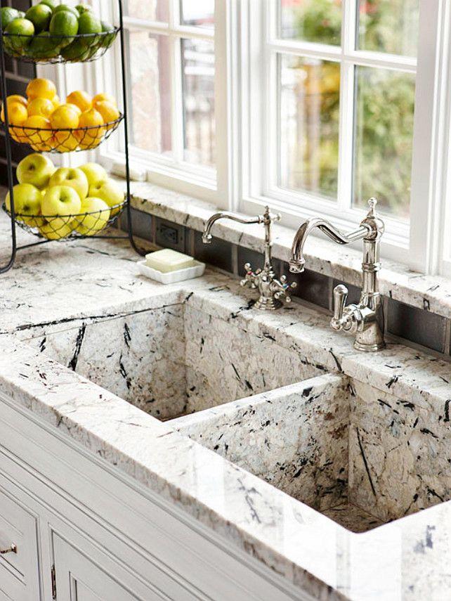 Custommade granite kitchen sink to match countertops