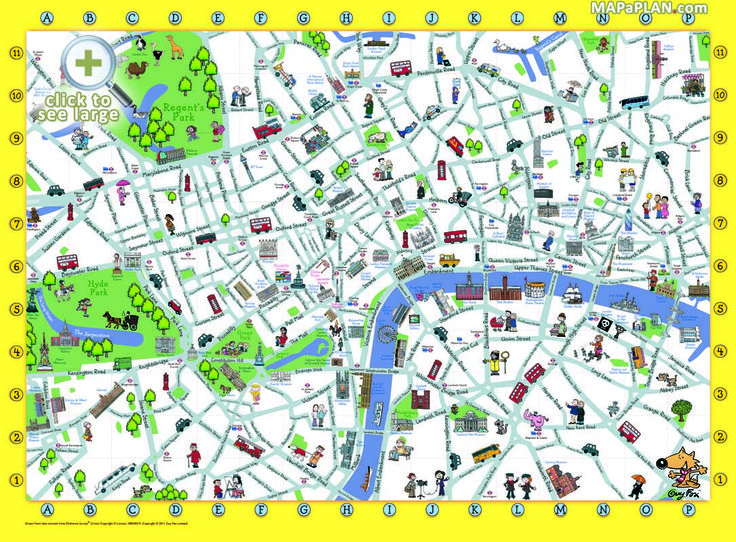 London top tourist attractions map Things to do with kids