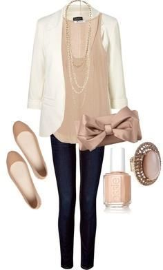 Definitely look for a white blazer!!!!! And match with