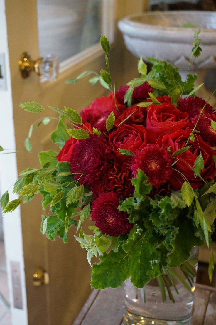 Floral Arrangement rose,celosia and china aster