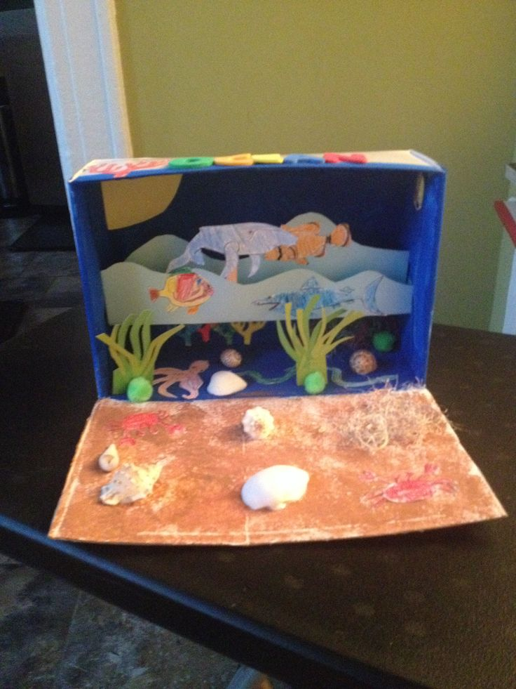 Project Diorama Box School Cereal