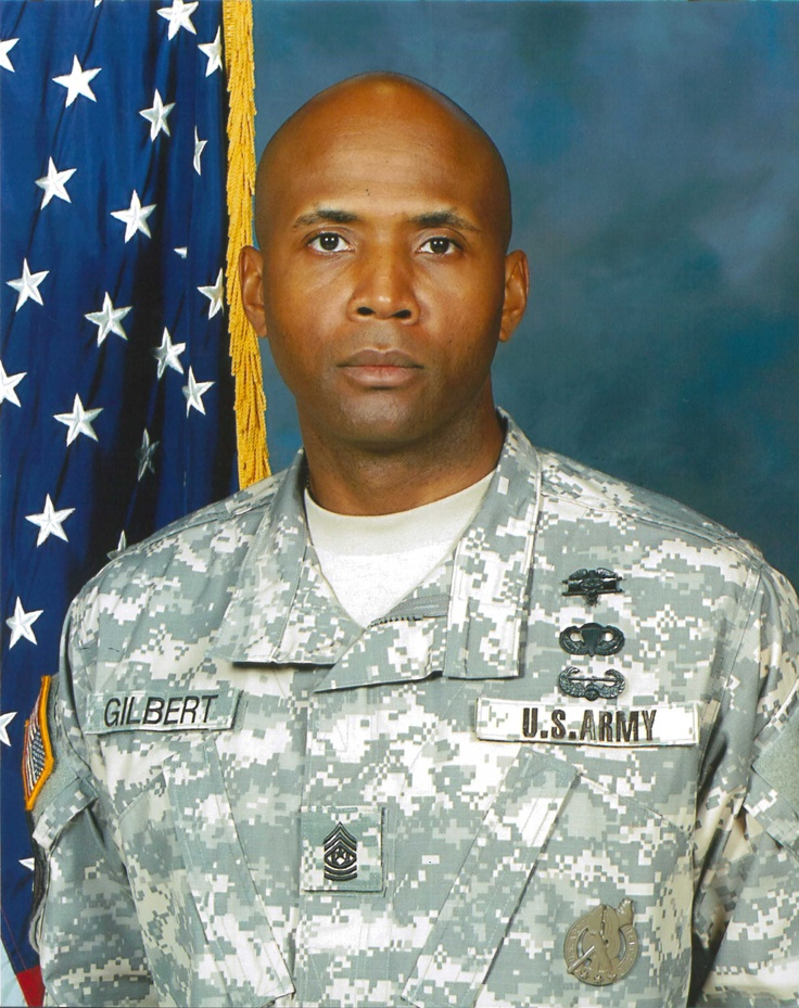 CSM J. Antez Gilbert, Command Sergeant Major, McDonald