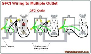 multiple gfci outlet wiring diagram | GFCI outlet wiring