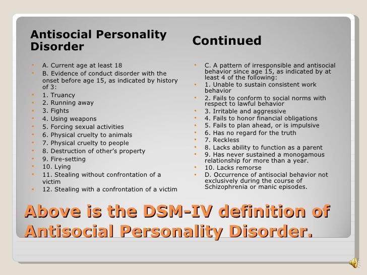 Antisocial Personality Disorder Research Paper