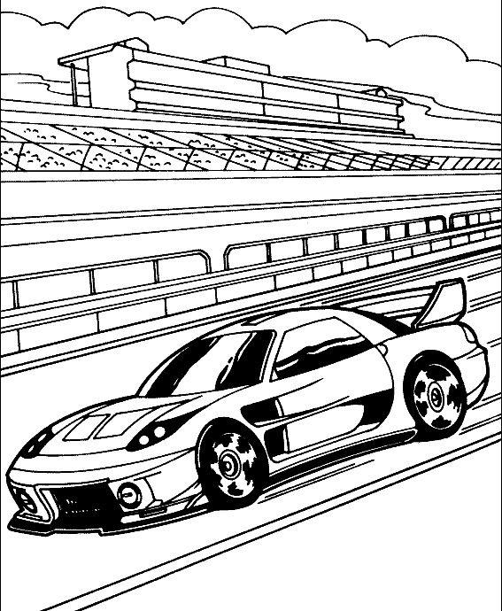 Track Race Car Sport Coloring Page Race Car Pinterest