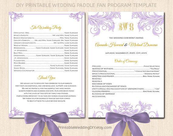 Wedding Fans Template. 2 modern wedding program and templatestruly ...