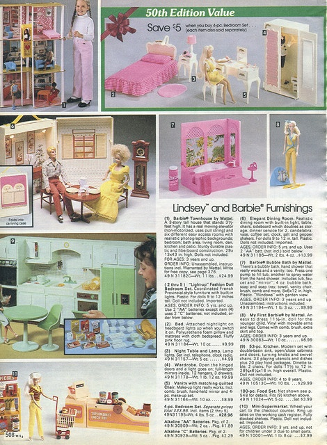 Barbies 1982 Xx Xx Sears Christmas Catalog P508 By