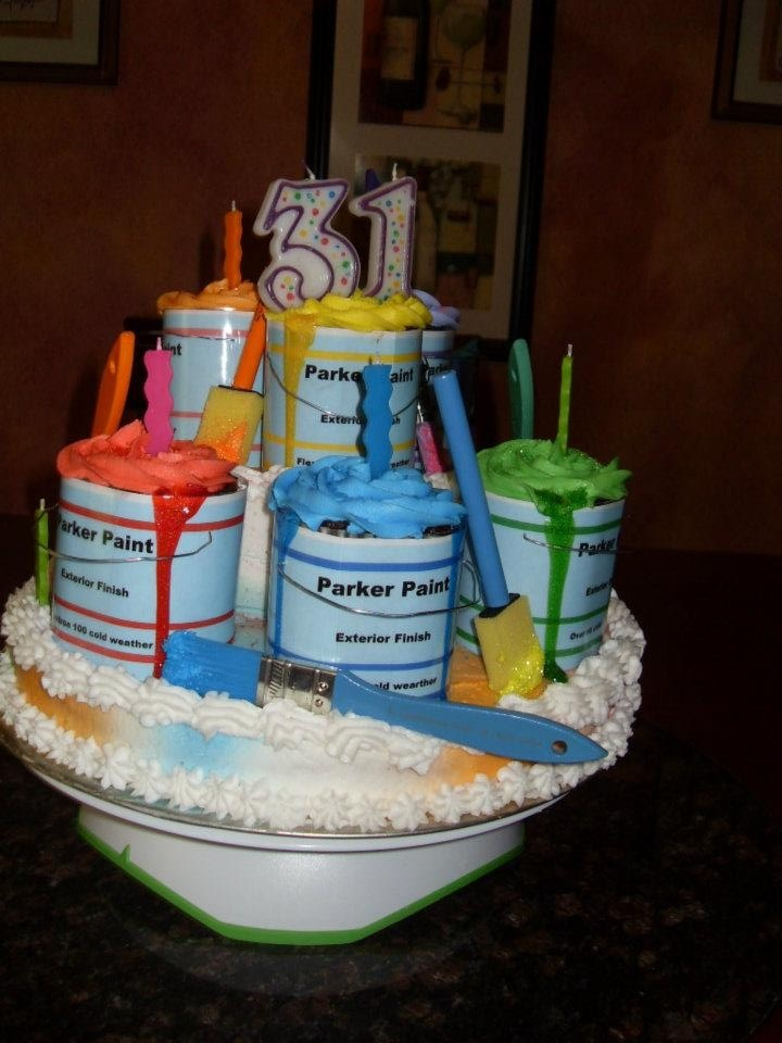 Son S Birthday Cake He Is A Painter Terri S Cakes