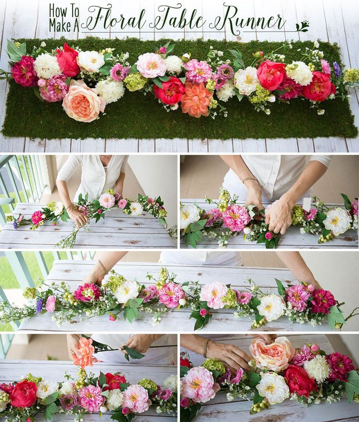 How to Make a Floral Table Runner Flower spray, Silk