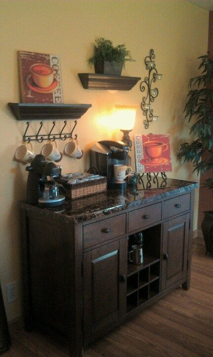 coffee station ideas…Love this! Wish I had a place for this!