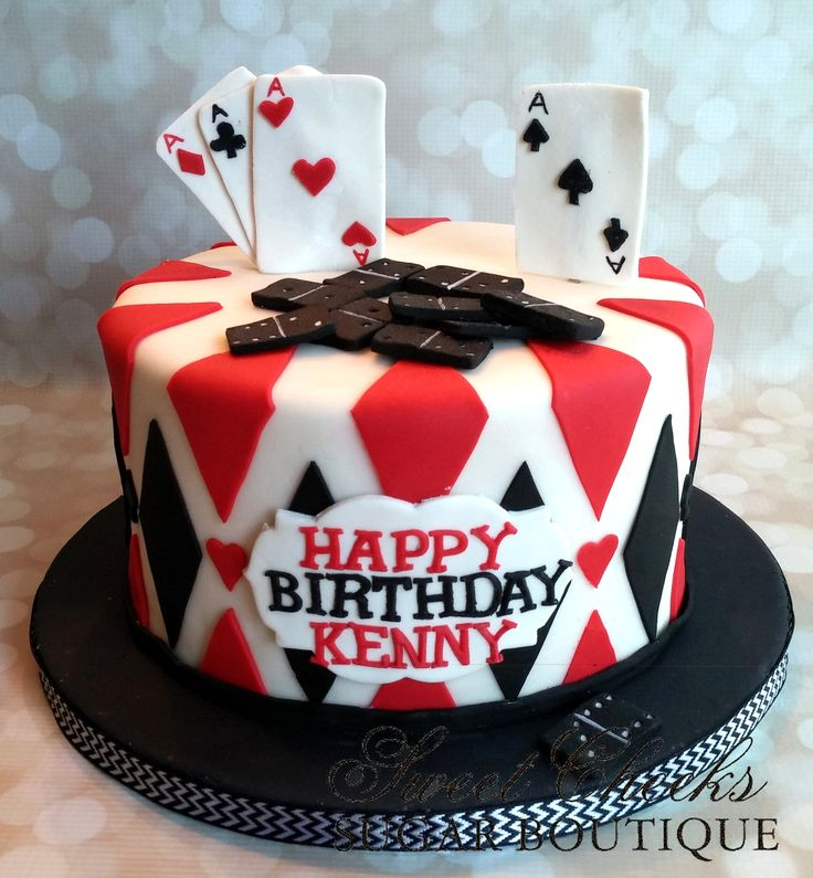 A Card And Domino Themed Cake For Kenny Sweet Cheeks