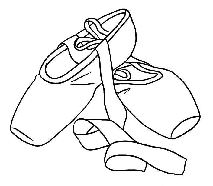 coloring page ballet party pinterest ballet shoe coloring pages