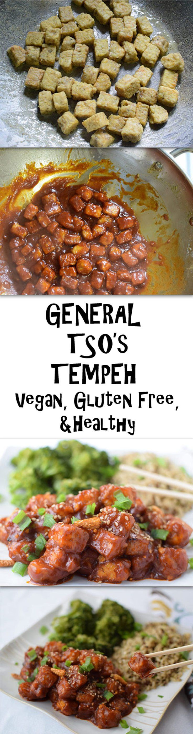 General Tso's Tempeh – A vegan amd healthy version of a classic dish