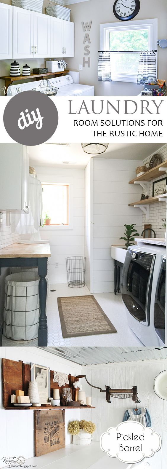Best 25 Rustic Laundry Rooms Ideas On Pinterest