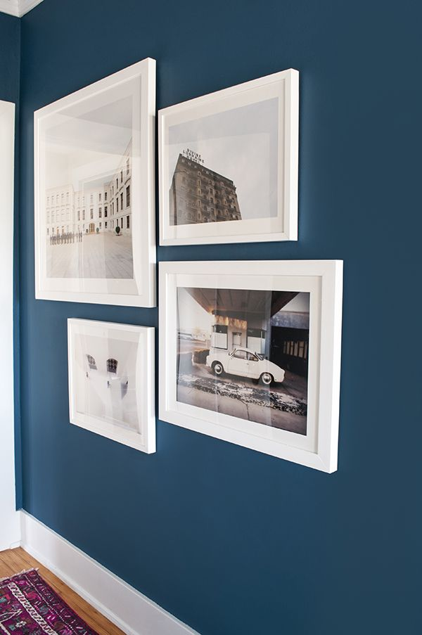 Paint Color Is Blue Danube Benjamin Moore Beautiful Dark Warmer Navy Maybe For Spare Bedroom Or Office Love This Wall Colour