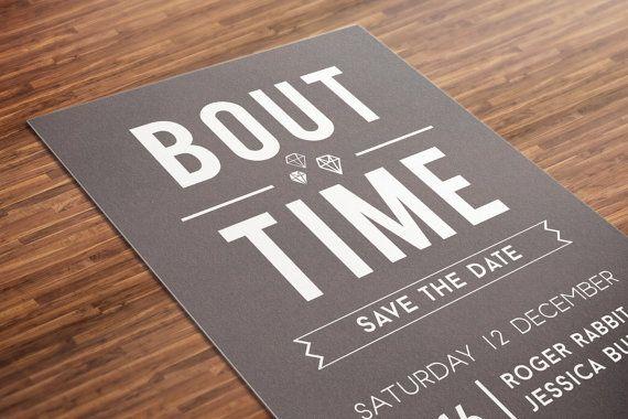 Plain Save Date Cards