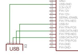 Pinout image of usb wiring ipod dock  connector diagrams