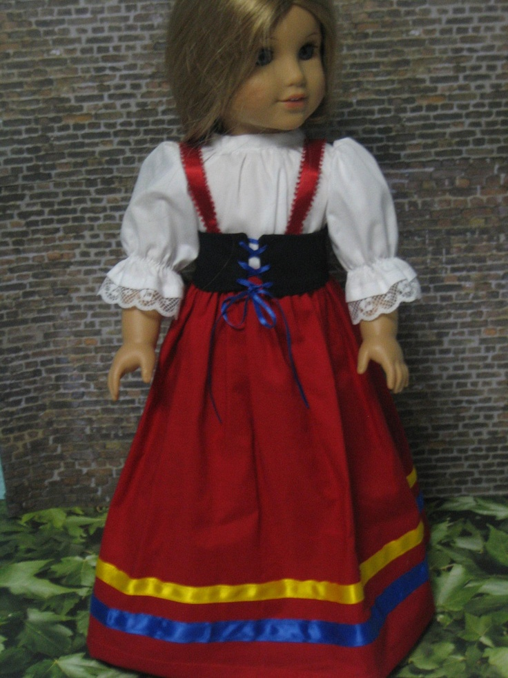 Italian National Costume for your American Girl doll