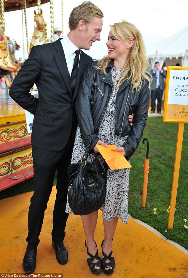 Billie Piper enjoys the polo while on a double date with
