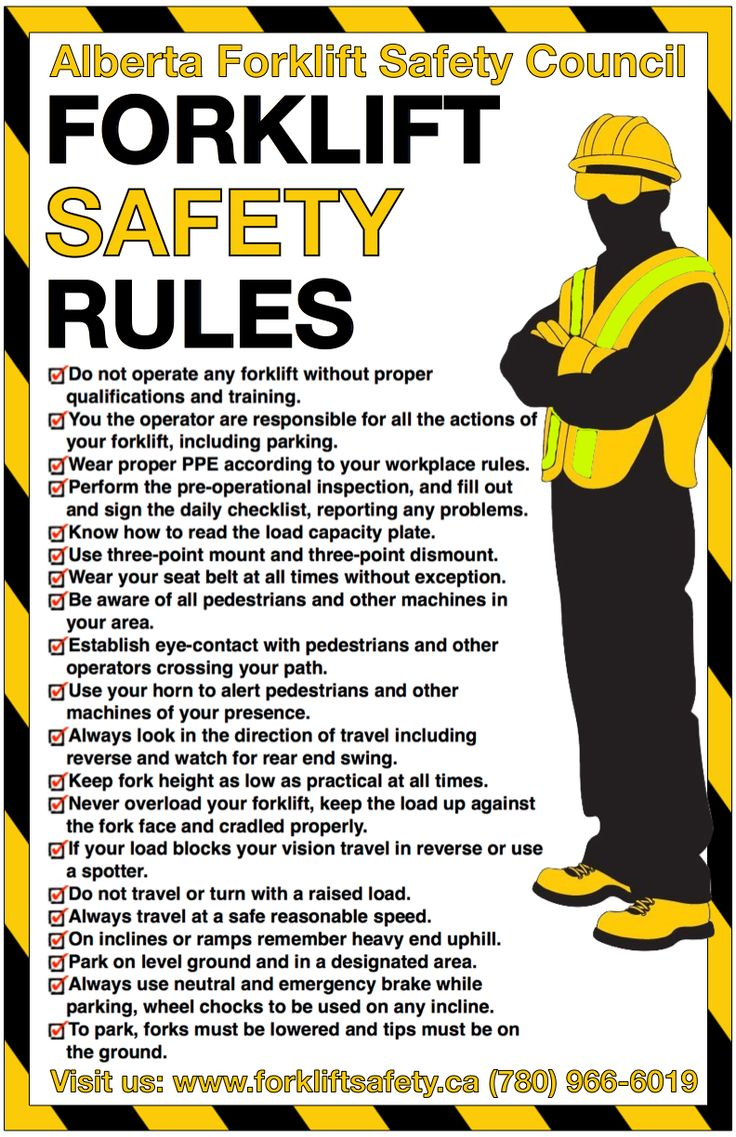 New Safety Poster from the Alberta Forklift Safety Council