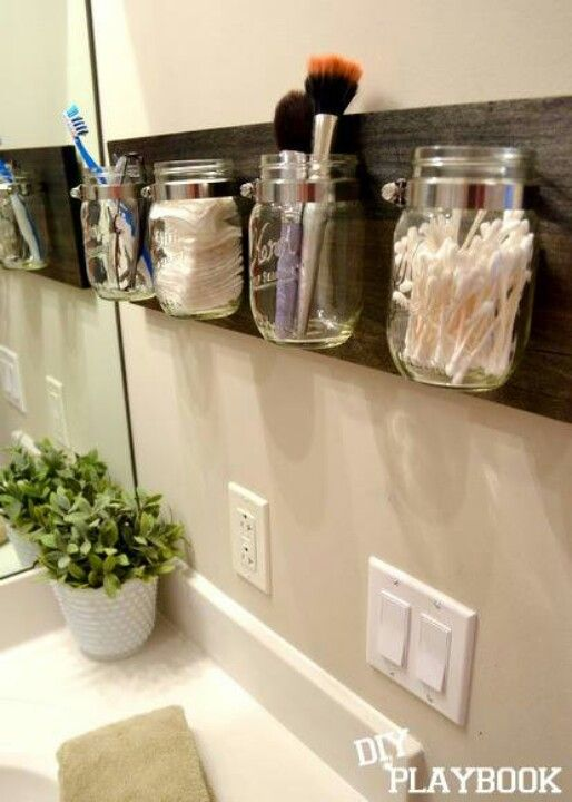 I dislike the Mason jars, just too country-ish for me, but I like the concept.