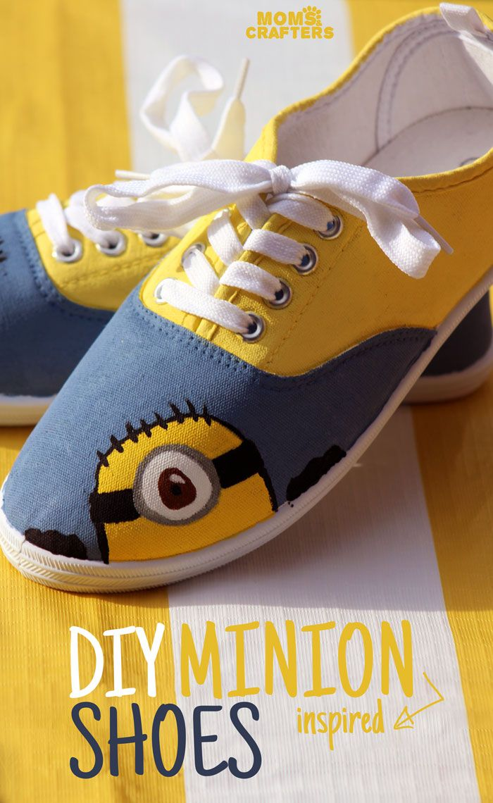 Make these adorable DIY Minion shoes by following these simple, step by step instructions. Such an adorabl