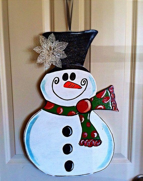 Wooden Snowman Door Hanger By TheButterbean1 On Etsy 28