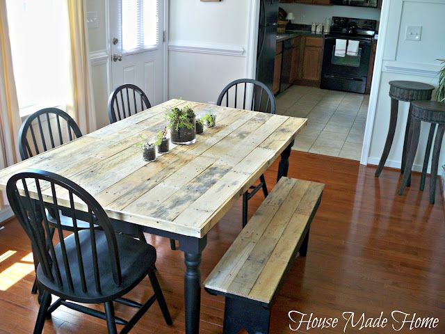 How To Build A Dining Room Table Out Of Pallets