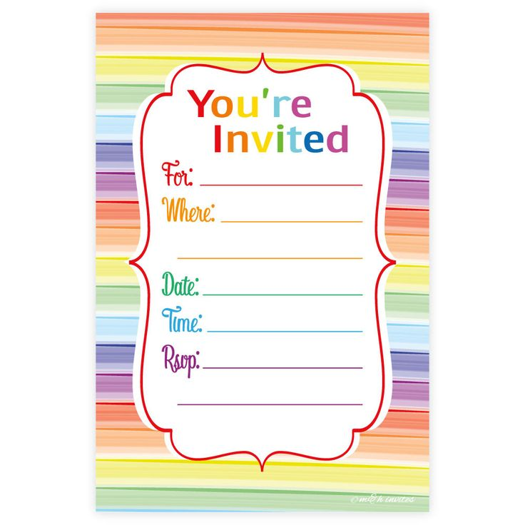 Invitations You Can Print Home