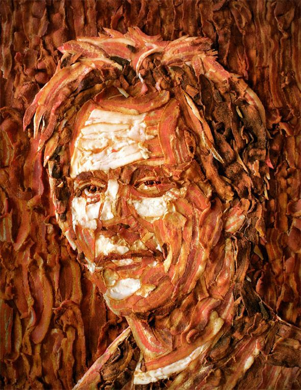 Kevin Bacon made from Bacon.