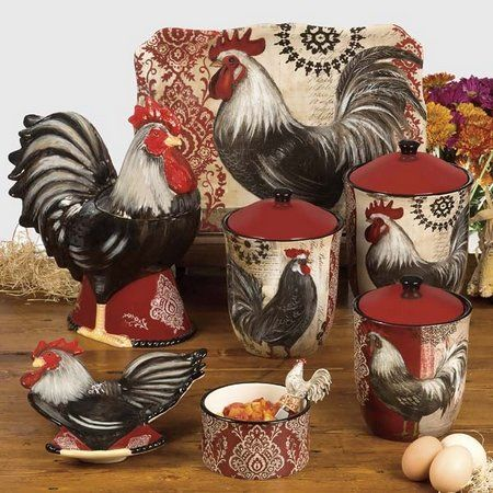 Kitchen Decor Sets Rooster Themes