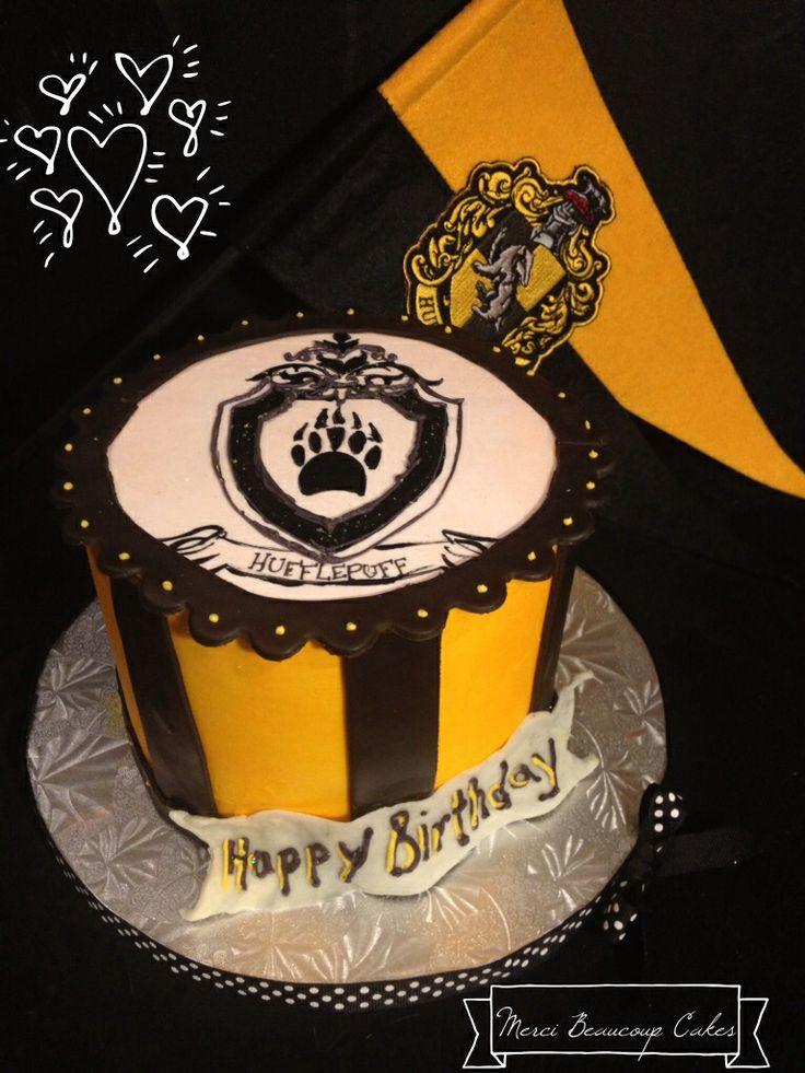 Hufflepuff Birthday cake by Reva AlexanderHawk for Merci