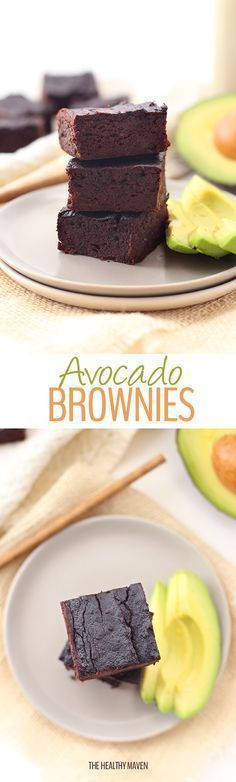 A healthy and delicious recipe for avocado brownies! Replace oil or butter with heart-healthy avocados for a delicious and
