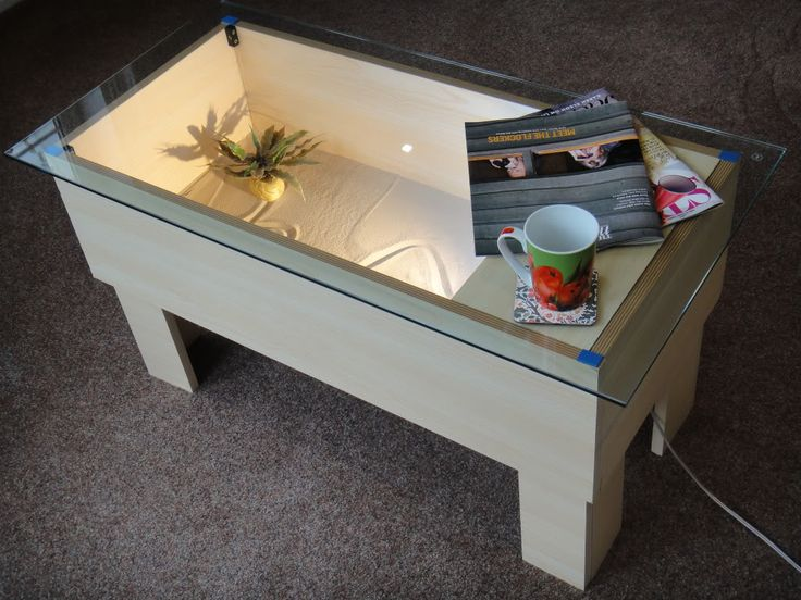 coffee table vivarium minimalist home