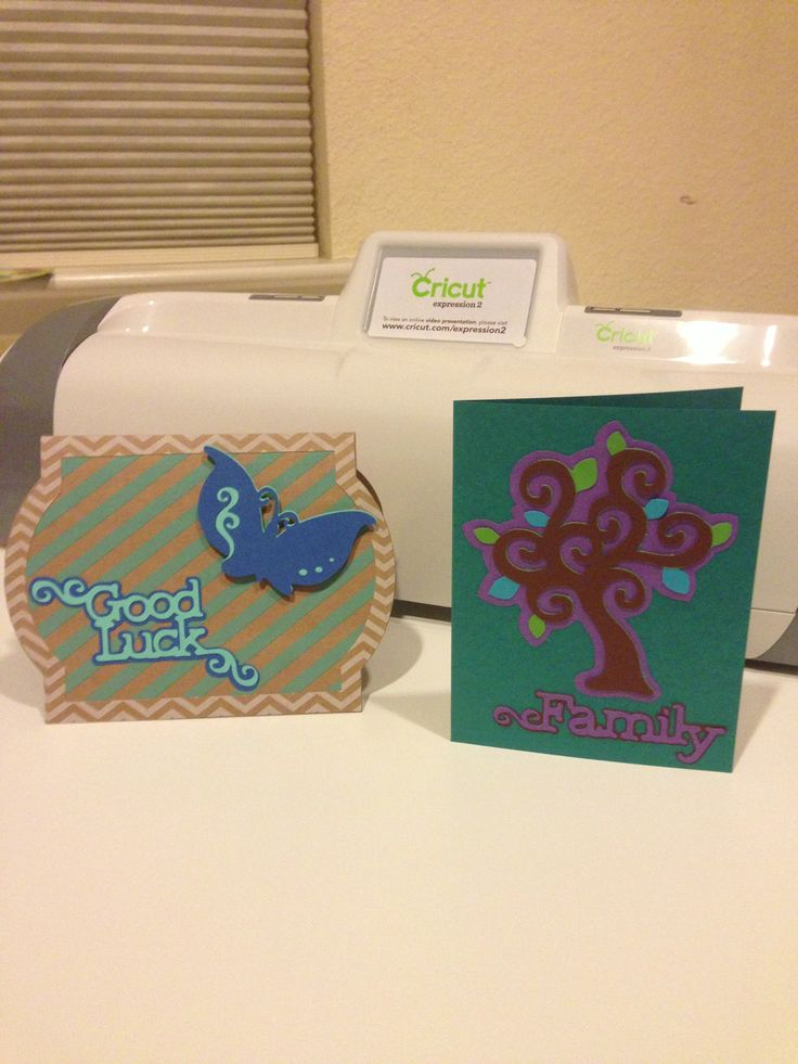 First Cards Made With My Cricut My Card Creations