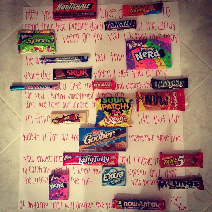 """Cute idea for """"him"""" The day I'm alone (valentines day"""