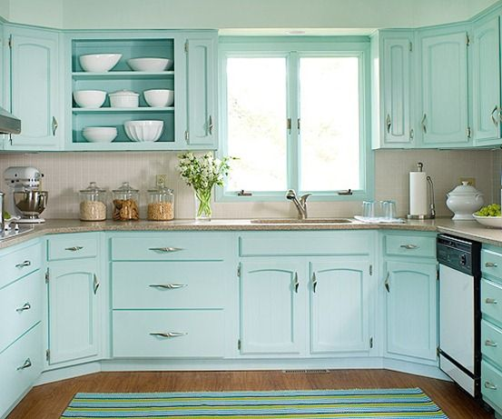 Teal Kitchen Cabinets Colored