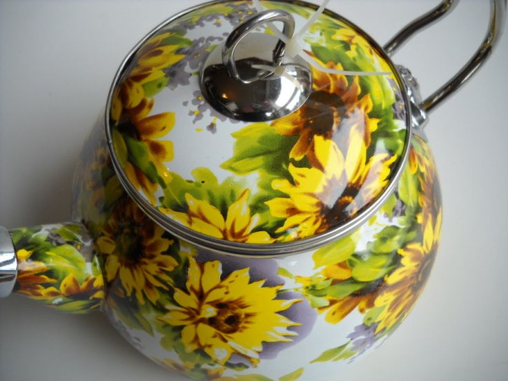 RATALY Sunflower Tea Kettle New More Sunflowers Sunflower Themed Kitchen And Kettle Ideas