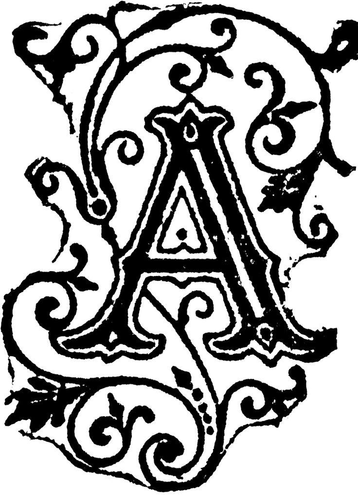 Fancy Letter A Designs ClipArt Best Tattoo Pinterest