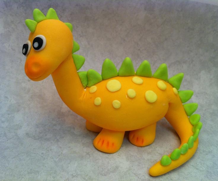 Fondant Baby Dinosaur Cake Or Cupcake Topper Decorations