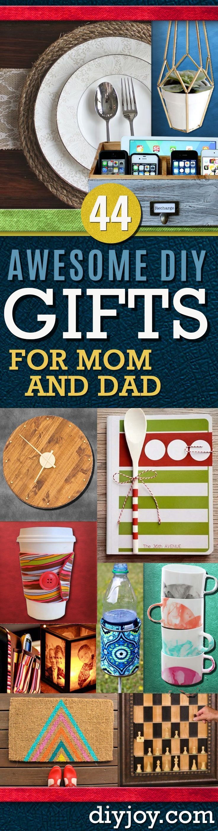 Awesome DIY Gift Ideas Mom and Dad Will Love Diy gifts