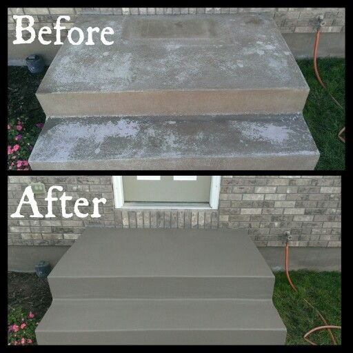 Front Stairs Needed To Be Redone Valspar Cement Porch | Painting Outside Concrete Steps