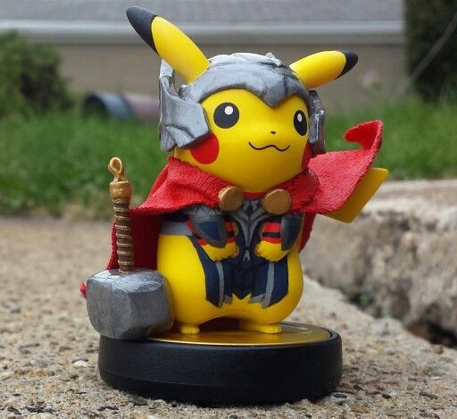 Image result for pikachu and thor